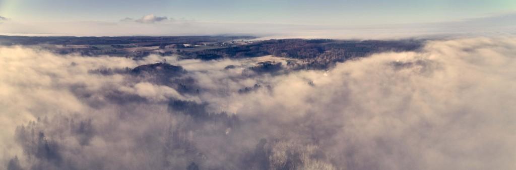 dronographica dronebillede tåge drone sorø omegn