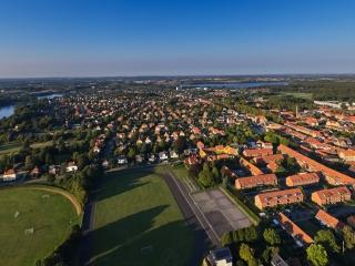 dronographica aerial imaging sorø by tennis sportplads smalsøen røde tage luftbilleder