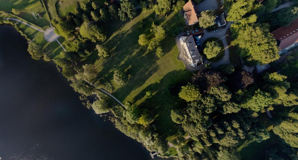 dronographica aerial imaging Stiftelsen Sorø akademi sø træer luftbillede